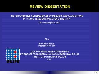 REVIEW DISSERTATION