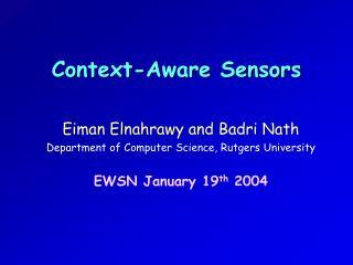 Context-Aware Sensors