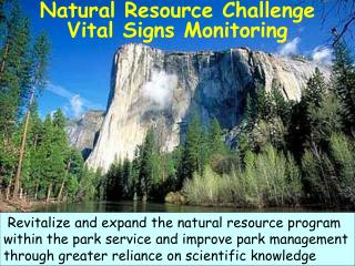 Natural Resource Challenge Vital Signs Monitoring