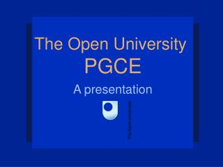 The Open University  PGCE