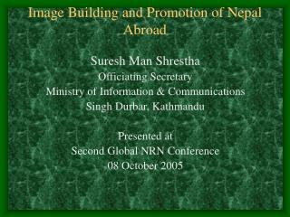 Image Building and Promotion of Nepal Abroad