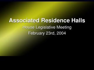 Associated Residence Halls