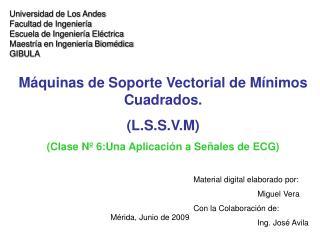 Universidad de Los Andes Facultad de Ingeniería Escuela de Ingeniería Eléctrica