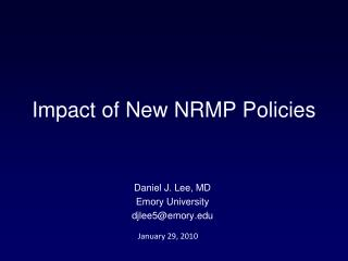 Impact of New NRMP Policies