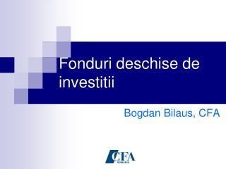 Fonduri deschise de investitii