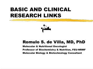 BASIC AND CLINICAL RESEARCH LINKS
