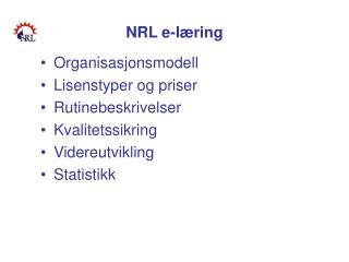 NRL e-læring