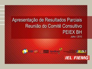 Apresentação de Resultados Parciais Reunião do Comitê Consultivo PEIEX BH  Julho / 2010