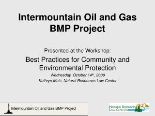 Intermountain Oil and Gas BMP Project