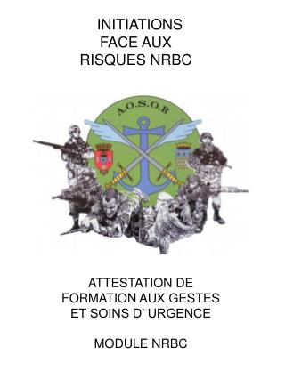 INITIATIONS FACE AUX RISQUES NRBC