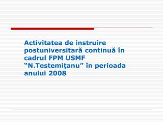 Catedre şi cursuri în componenţa FPM
