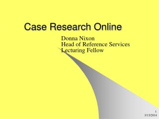 Case Research Online