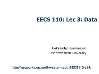 EECS 110: Lec 3: Data