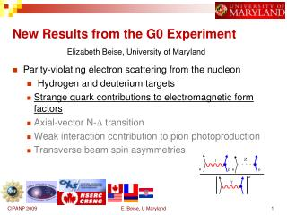 New Results from the G0 Experiment