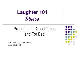 Laughter 101 Stress
