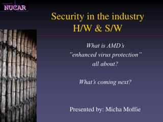 Security in the industry  H