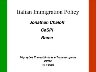 Italian Immigration Policy