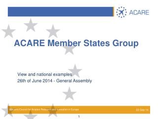 ACARE Member States Group