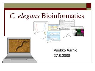 C. elegans Bioinformatics