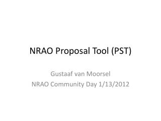 NRAO Proposal Tool (PST)