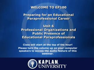 Class will start at the top of the hour!