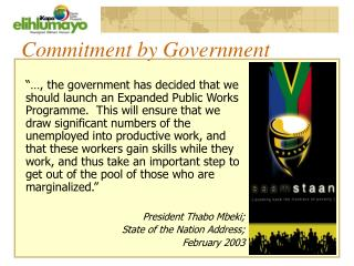 Commitment by Government