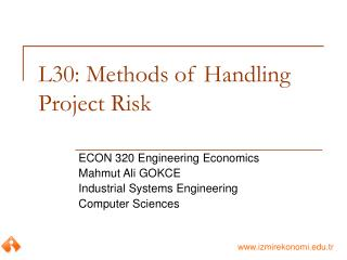 L30: Methods of Handling Project Risk