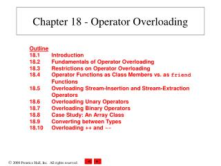 Chapter 18 - Operator Overloading