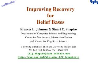 Improving Recovery for Belief Bases