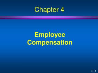 Employee Compensation