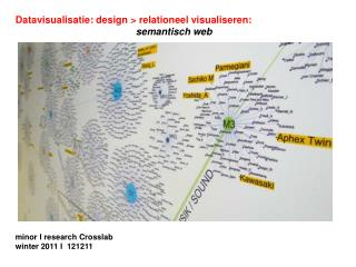 Datavisualisatie: design > relationeel visualiseren: semantisch web minor I research Crosslab