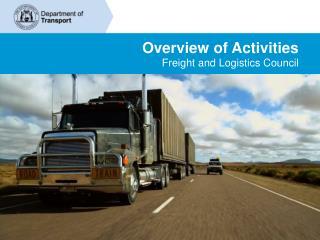 Overview of Activities