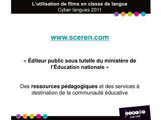sceren «Éditeur public sous tutelle du ministère de l'Éducation nationale»
