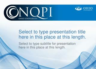 Select to type presentation title  here in this place at this length.