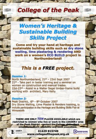 Women's Heritage & Sustainable Building Skills Project
