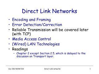 Direct Link Networks