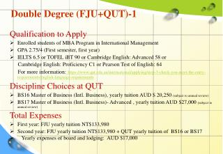 Double Degree (FJU+QUT)-1