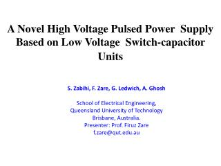 A Novel High Voltage Pulsed Power  Supply Based on Low Voltage  Switch-capacitor Units