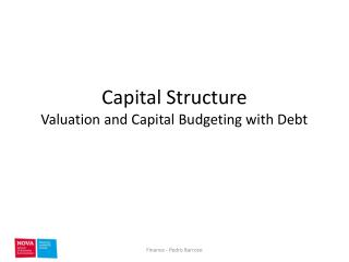 Capital Structure Valuation and Capital Budgeting with Debt
