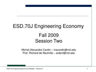 ESD.70J Engineering Economy