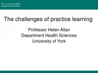 The challenges of practice learning  in the light of the Francis reports