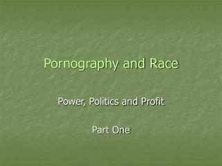 Pornography and Race