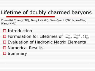 Lifetime of doubly charmed baryons