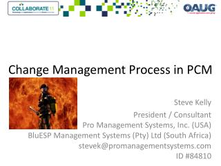 Change Management Process in PCM
