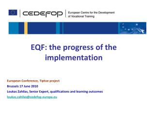 EQF: the progress of the implementation