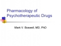 Pharmacology of Psychotherapeutic Drugs