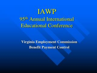 IAWP 95th Annual International Educational Conference