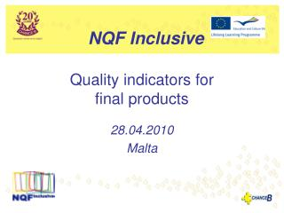 Quality indicators for  final products