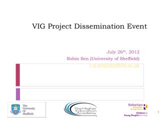 VIG Project Dissemination Event