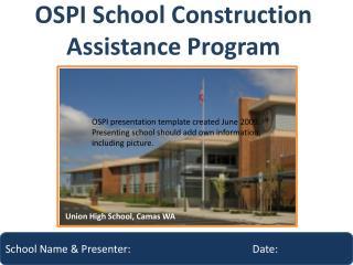 OSPI School Construction Assistance Program